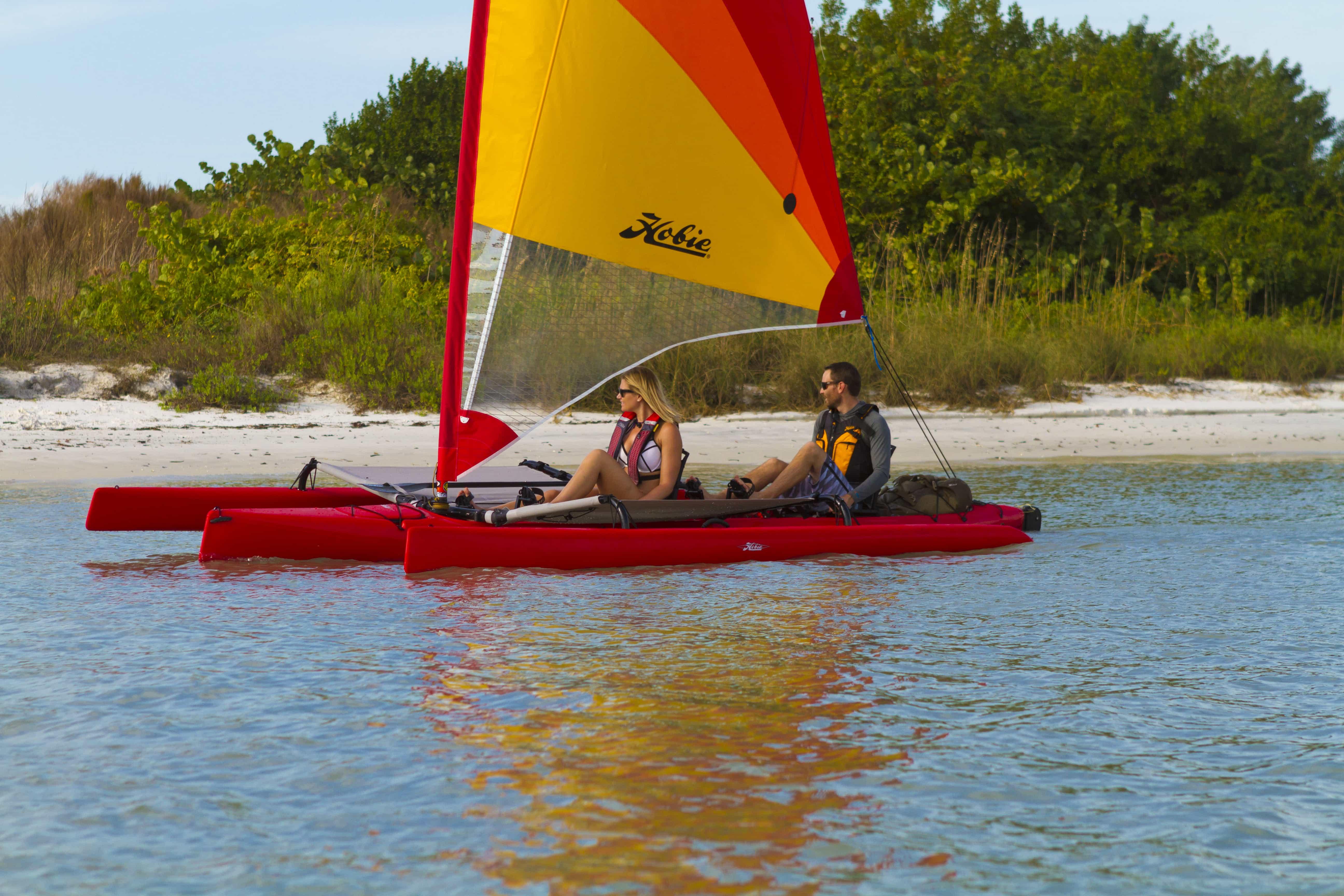 Une sortie en Tandem Island kayak double à voile, c'est facile et ludique